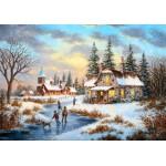 Puzzle  Grafika-02498 Dennis Lewan - A Mid-Winter's Eve