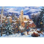 Puzzle  Grafika-02704 Chuck Pinson - Sledding To Town