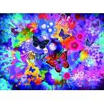 Puzzle  Grafika-02718 Fleurs et Papillons Colorés