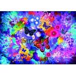 Puzzle  Grafika-02719 Fleurs et Papillons Colorés