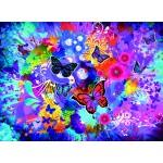 Puzzle  Grafika-02720 Fleurs et Papillons Colorés