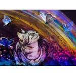 Puzzle  Grafika-02819 Le Chat et les Papillons