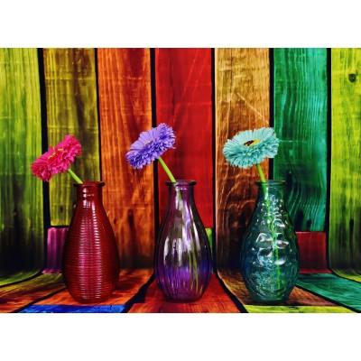 Puzzle Grafika-02821 Vases Fleuris et Colorés