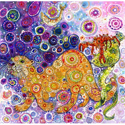 Puzzle Grafika-02851 Sally Rich - Otters Catch