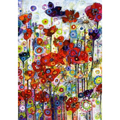 Puzzle Grafika-02868 Sally Rich - Poppies