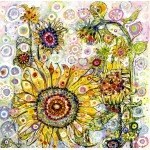 Puzzle  Grafika-02875 Sally Rich - Sunflowers