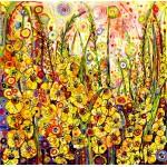 Puzzle  Grafika-02896 Sally Rich - Golden Gladioli