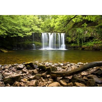 Puzzle Grafika-02934 Sgwd Clun-Gwyn Waterfall near Neath