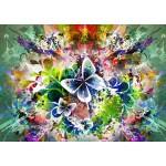 Puzzle  Grafika-T-00001 Fleurs et Papillons de Printemps