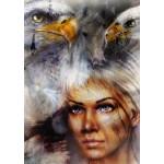 Puzzle  Grafika-T-00061 La Femme, l'Aigle et le Cheval