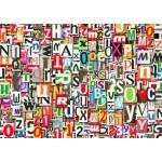 Puzzle  Grafika-T-00079 Collage de Chiffres et de Lettres