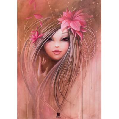 Puzzle Grafika-T-00108 Misstigri : Sweet Pinky Girl