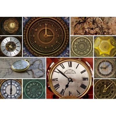 Puzzle Grafika-T-00135 Collage - Horloges