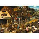 Puzzle  Grafika-T-00153 Brueghel Pieter : Proverbes Flamands, 1559