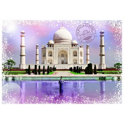Puzzle Grafika-T-00201 Travel around the World - Inde