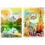 Puzzle  Grafika-T-00236 Travel around the World - Autriche et Suisse