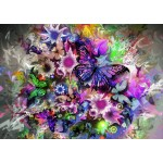 Puzzle  Grafika-T-00313 Fleurs et Papillons