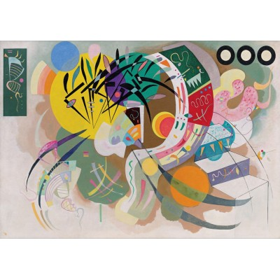 Puzzle Grafika-T-00323 Vassily Kandinsky - Dominant Curve, 1936