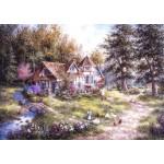 Puzzle  Grafika-T-00509 Dennis Lewan - Glacier Ridge Manor