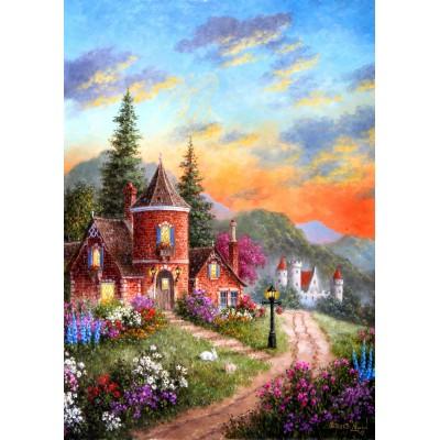 Puzzle Grafika-T-00518 Dennis Lewan - Castle Ridge Manor