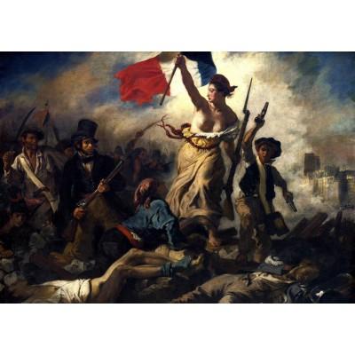Puzzle Grafika-T-00597 Eugène Delacroix - La Liberté guidant le Peuple, 1830