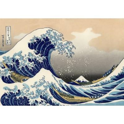 Puzzle Grafika-T-00638 Hokusai - La Grande Vague de Kanagawa