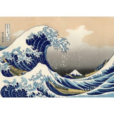 Puzzle Grafika-T-00639 Hokusai - La Grande Vague de Kanagawa