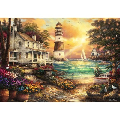 Puzzle Grafika-T-00707 Chuck Pinson - Cottage by the Sea