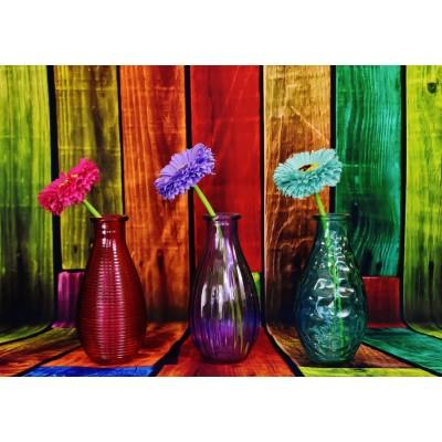 Puzzle Grafika-T-00860 Vases Fleuris et Colorés