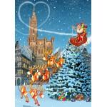 Puzzle  Grafika-T-00943 Cathédrale de Strasbourg à Noël