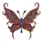 Harmandi-Puzzle-Creatif-90017 Puzzle en Bois - Le Papillon Illusionniste