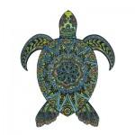 Harmandi-Puzzle-Creatif-90024 Puzzle en Bois - La Tortue Tropicale