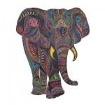 Harmandi-Puzzle-Creatif-90031 Puzzle en Bois - L'Eléphant Impérial