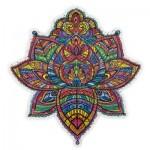 Harmandi-Puzzle-Creatif-90079 Puzzle en Bois - Le Florissant Lotus