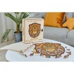 Harmandi-Puzzle-Creatif-90086 Puzzle en Bois - Le Lion Majestueux