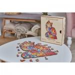 Harmandi-Puzzle-Creatif-90093 Puzzle en Bois - Le Tendre Chat