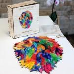 Harmandi-Puzzle-Creatif-90130 Puzzle en Bois - Le Lion Mozaik