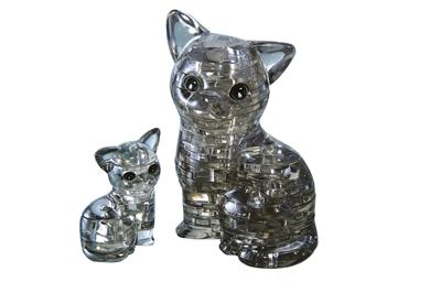 HCM-Kinzel-59127 Puzzle 3D en Plexiglas - Chat et chaton