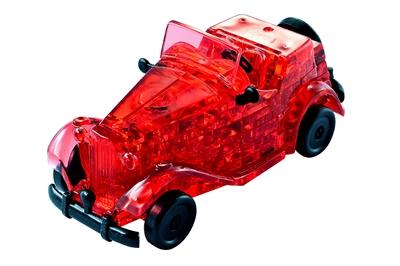 HCM-Kinzel-59135 Puzzle 3D en Plexiglas - Oldtimer rouge