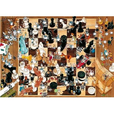 Puzzle Heye-08793 Degano : Noir ou blanc