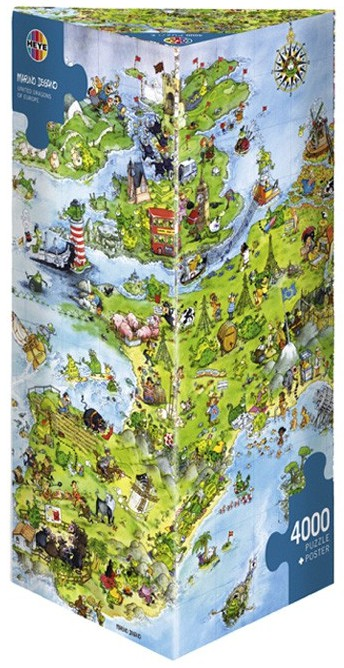 Puzzle Heye-08854 Degano : l'Europe des dragons unis