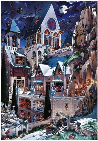 Puzzle Heye-26127 Loup : Le château des horreurs