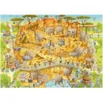 Puzzle  Heye-29639 Marino Degano : Habitat Africain