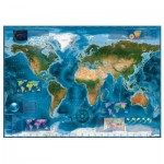 Puzzle  Heye-29797 Carte Satellite du Monde