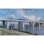 Puzzle  Impronte-Edizioni-080 Claude Monet - Le Pont du Chemin de Fer à Argenteuil
