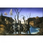 Puzzle  Impronte-Edizioni-240 Salvador Dalí - Cygnes se reflétant en éléphants