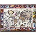 Puzzle  Impronte-Edizioni-247 Carte du Mmonde Illustrée