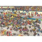 Puzzle  Jumbo-02046 Jan van Haasteren : Course de motos