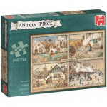 Puzzle  Jumbo-17093 Pieck Anton : 4 Saisons