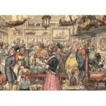 Puzzle  Jumbo-17094 Anton Pieck - L'Exposition
